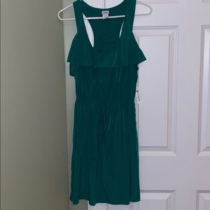 Brand new green cinched dress